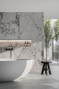 Contemporary Bathroom Designs, Bathroom Design Luxury, Modern Bathroom Decor, Interior Design Minimalist, Modern House Design, Marble Interior, Luxurious Bedrooms, Bathroom Inspiration, Interior Architecture