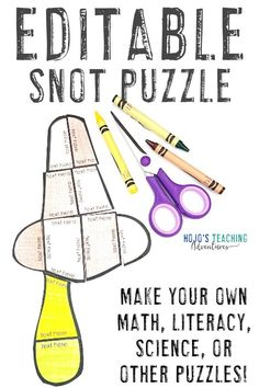 This FREE editable snot or booger puzzle allows you to type anything you want into the PowerPoint file. Click to download it today, then use it with your 1st, 2nd, 3rd, 4th, 5th, 6th, 7th, or 8th grade elementary classroom or homeschool students. Use this with math, literacy, foreign languages, sight words, vocabulary, or anything else that fits into the text boxes. #MathGames #LiteracyGames #MiddleSchool #Elementary #HoJoTeaches 5th Grade Classroom, Middle School Classroom, Hygiene Lessons, Free Activities For Kids, Picture Writing Prompts, Math Literacy, Elementary Teacher, Math Centers, Homeschool