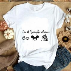 I'm a simple woman I like Harry Potter Mickey Mouse Avengers Endgame shirt Woman T-shirts simple woman t shirt Mom Shirts, Cute Shirts, Funny Shirts, T Shirts For Women, Clothes For Women, Cute Disney Shirts, Disney Shirts Women, Pretty Shirts, Simple Shirts