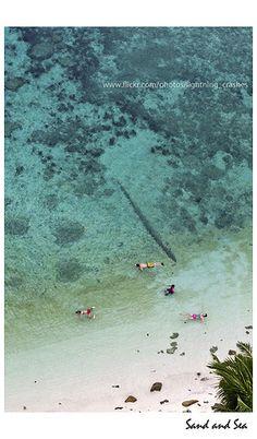 (Sand and Sea - Tanjung Tinggi, Belitung, beautiful places to visit in Indonesia.