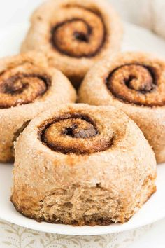 The ULTIMATE Healthy Mini Cinnamon Rolls -- only 56 calories! Tender dough + gooey cinnamon filling = pure BLISS! You'll never need another cinnamon roll recipe again!