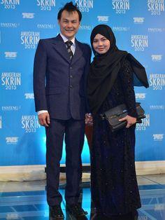 Anugerah Skrin 2013, Stadium Malawati. Adam Corrie and his wife.