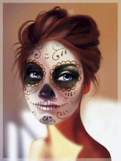 Looking for for ideas for your Halloween make-up? Browse around this website for cool Halloween makeup looks. Sugar Skull Halloween, Cool Halloween Makeup, Sugar Skull Art, Halloween 2018, Sugar Skulls, Scary Halloween, Candy Skulls, Sugar Scull Costume, Halloween Stuff