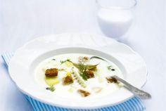 Fish soup / talvipäivän kalakeitto Fish Soup, Lidl, Couscous, Soup And Salad, Panna Cotta, Ethnic Recipes, Soups, Food, Dulce De Leche