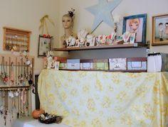 cute vintage jewelry craft room