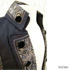 Mens steampunk fleurs-de-lis pirate vest via Etsy