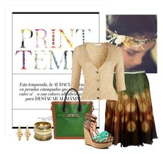 love earth by koolkolourz on Polyvore featuring polyvore fashion style Oui Bragia BCBGeneration Proenza Schouler Wet Seal Oasis clothing brown green skirt
