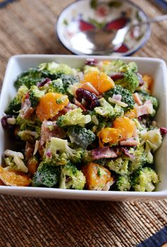 Broccoli Salad with Mandarin Oranges | Mel's Kitchen Cafe
