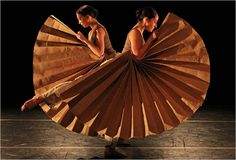 "Sarah Lustbader and Echo Gustafson of Catherine Cabeen and Company performing in ""Chromatic Diversions."" (Photo: Andrea Mohin/The New York Times) Dance Dance Revolution, Paper Fans, Modern Dance, Dance Fashion, Dance Photos, Dance Photography, Dance The Night Away, Just Dance, Ny Times"
