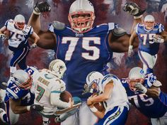 Patriots DT, Vince Wilfork. This was done as a gift for his 30th birthday from his wife.