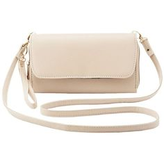 Charlotte Russe Detachable Strap Crossbody Bag ($16) ❤ liked on Polyvore featuring bags, handbags, shoulder bags, purses, nude, purse crossbody, pink purse, man bag, cross-body handbag and zip pouch