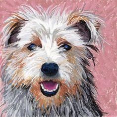 "Happy Sun Dog!    ""Yorkshire Terrier pastel painting"" - Original Fine Art for Sale - © Ria Hills"