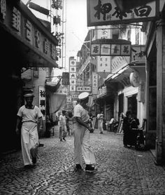 Jack Birns (1919-2008) American photographer.  Incredible photos from China's civil war in the 1940s.  This photo is Macau in 1949.