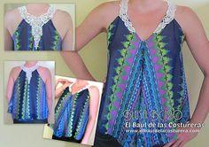 Esquema del patrón de costura Blusa Fácil BC120 | EL BAÚL DE LAS COSTURERAS