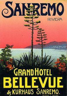 Vintage Italian Posters ~ #Italian #vintage #posters ~ Sanremo