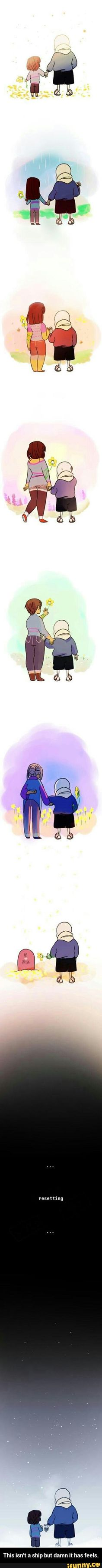This isn't a ship but damn it has feels.  Frisk is always seen as a girl :p