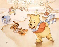 Winnie The Pooh Art Brittany Smith Winne The Pooh, Winnie The Pooh Quotes, Disney Winnie The Pooh, Disney Dream, Disney Love, Disney Magic, Walt Disney, Jim Henson, Eeyore