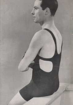 mens swimsuit 1920s