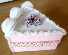Felt cakes luxury cake slice