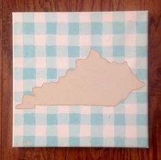 Gingham Kentucky  by emilytrujilloart on Etsy https://www.etsy.com/listing/222998556/gingham-kentucky