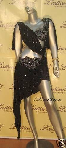 Dance Dress Competition Latin Rhythm Ballroom Salsa Size s M L VL68E | eBay