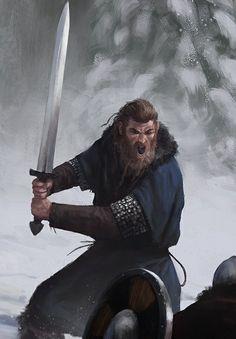 human male fighter barbarian