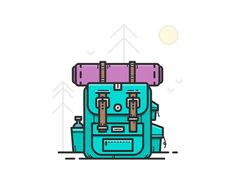 Backpack by Alexander Kunchevsky #Design Popular #Dribbble #shots