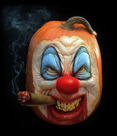 #hallowen #pumpkincarving Credit: Ray Villafane/Barcroft Media Is there anyone out there who doesn't think clowns are scary?