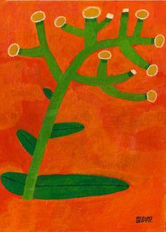 みづきのぶろぐはからあげのふくろみたく Stamp Printing, Guache, Stencil, Plant Illustration, Patterns In Nature, Painted Paper, Japanese Artists, Illustrations And Posters, Botanical Art