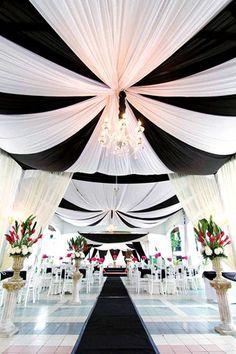 Black and White Wedding Theme Decor (BridesMagazine.co.uk)