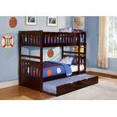 Rowe Twin Over Twin Standard Bunk Bed With Trundle