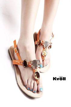 Designer-Damen-Schuhe-Riemchen-Sandalen-Kristalle-Gold-Kette-K-Leder-UVP-29-90