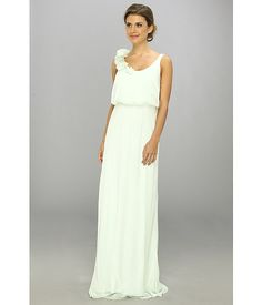 Adrianna Papell Blouson Irri Chiffon Gown w/ Rosette (Bridesmaid)