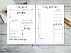 Daily bullet journal printable daily planner bullet journal