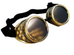 CYBER GOGGLES STEAMPUNK WELDING GOTH COSPLAY VINTAGE GOGGLES RUSTIC (Black): Amazon.co.uk: Clothing