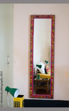 The full length mirrors are a tribute to the craftmenship of local artisans.