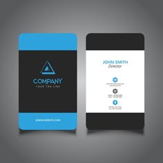 Rounded corner business card with a modern design Free Vector