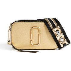 765c85b2b13c Marc Jacobs Metallic Snapshot Cross Body Bag ( 330) ❤ liked on Polyvore  featuring bags