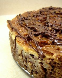 Praline Cheesecake By Weevalicious Recipes -- see more at LuxeFinds.com