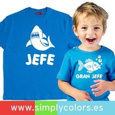 Combinacion de camisetas papa e hijo personalizadas. Regalo del Dia del Padre, regalo original para papa