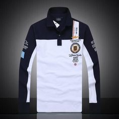 Camisa Polo Masculina 2018 Brand Men Autumn Cotton Aeronautica Militare Long Sleeve Air Force One Man Embroidery Polo Shirt-ivroe T Shirt Polo, Polo Shirt Brands, Mens Polo T Shirts, Men's Polos, Polo Fashion, Stripes Fashion, Style Fashion, Long Sleeve Polo, Long Sleeve Shirts