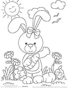 desenho Coelhinha da Páscoa, colorir Coelhinha da Páscoa