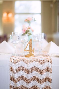SET OF 15 Glitter Table Numbers for Wedding or Party Decor Wooden Numbers for Wedding Reception, Gold and More Glitter Decor (Item - GLI115)