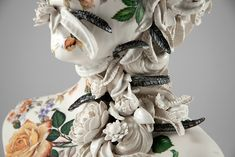 """itscolossal: """"More: New Ceramic Busts Overgrown With Twisted Vines and Colorful Flowers by Jess Riva Cooper """" Growth And Decay, Colossal Art, Grid Design, Sculpture Art, Ceramic Sculptures, Colorful Flowers, Flower Art, Art Dolls, Vines"""