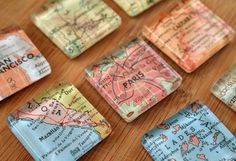 It's easy and inexpensive to turn an old map into an interesting décor piece. Plus, maps don't need to be in perfect condition to be upcycled – older maps often look better! If you've lived in several cities, add a personal touch to your décor by highlighting those spots. Or, if you have fond memories of a trip to Paris, choose that map!
