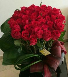 A Beautiful Rosy - Areka Flowers Beautiful Red Roses, Amazing Flowers, My Flower, Fresh Flowers, Flower Art, Beautiful Flowers, Rosen Arrangements, Floral Arrangements, Valentines Flowers
