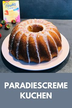 PARADIESCREME KUCHEN #ofenliebe #paradiescremekuchen #paradiescreme #kuchen #affektblog #torte Foodblogger, Fabulous Foods, Doughnut, Muffins, Brunch, Cupcakes, Sweets, Magic, Desserts