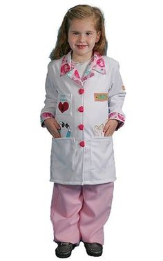 Girls Kids Veterinarian Costumes Dress Up America Inspirational Cuts, Medium #DressUpAmerica