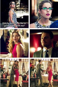 This whole Oliver and Felicity date thing made me *super* happy... then the rest of the episode happened.  -_- He thinks too much.