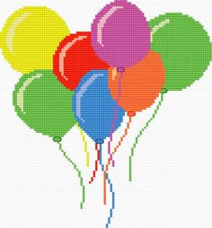 Toy-balloons (balloons, for children, colours, game, circus)